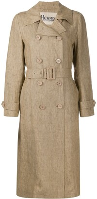 Herno Long Belted Trench Coat