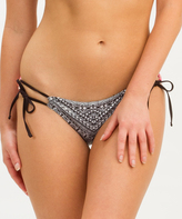 Ach'e Black Geo & Coral Floral Bettina Hipster Bikini Bottoms