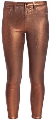 L'Agence Margot Metallic High-Rise Skinny Metallic Jeans