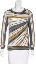Diane von Furstenberg Metallic Striped Sweater w/ Tags