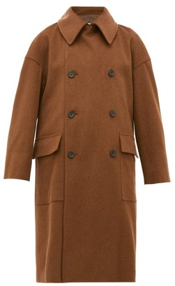 Connolly - Double-breasted Wool Coat - Womens - Tan