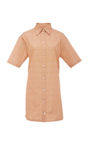 Victoria Beckham Cotton Grid Print Shirt