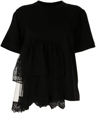 Simone Rocha tiered lace T-shirt