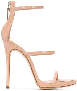 Giuseppe Zanotti Three Strap Heeled Sandals