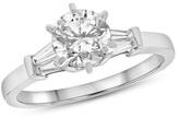 Zales 1 CT. T.W. Diamond Collar Engagement Ring in Platinum (I/I1)