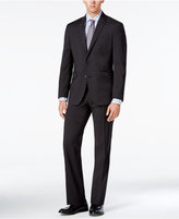 Kenneth Cole Reaction Men's Slim-Fit Charcoal Micro Check Suit