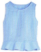 Aqua Girls' Ruffled Gingham Top, Big Kid - 100% Exclusive