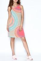 Aryeh Coral Print Dress