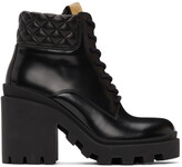 Thumbnail for your product : Gucci Black Lace-Up Heeled Boots