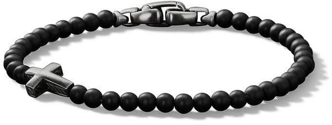 David Yurman Spiritual Beads onxy cross bracelet