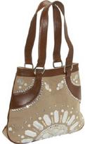 Global Elements Leather Handbag with Shells