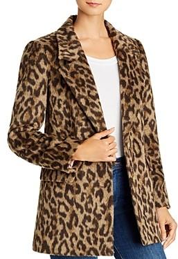 Rebecca Taylor Leopard Print Faux Fur Coat