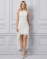 Le Château Lace Halter Neck High-Low Dress