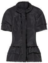 Oscar de la Renta Silk-faille peplum jacket