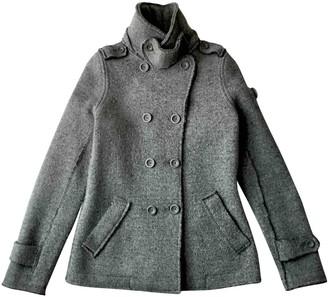Swiss-Chriss Swiss Chriss Grey Wool Coat for Women