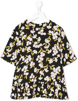 Marni floral frilled top