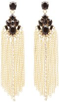 Charlotte Russe Chainlink Fringe Statement Earrings