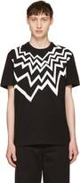 Neil Barrett Black Serrated Fairisle T-Shirt