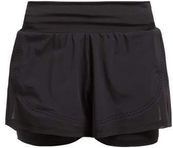 adidas by Stella McCartney Double Layer Stretch Shorts - Womens - Black