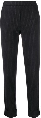 Kiltie pinstripe slim fit trousers