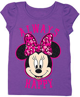 Freeze Grape Minnie Mouse 'Always Happy' Tee - Toddler