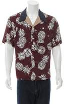 Valentino Camp-Collar Pineapple Print Shirt w/ Tags