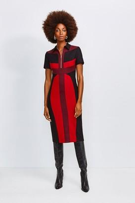 Karen Millen Collared Colour Block Pencil Dress