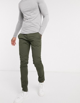 Farah Drake skinny fit chinos in khaki