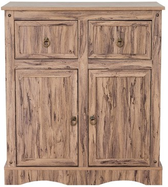Elegant Home Fashions Simplicity Storage Cabinet with 2 Doors and 2 Drawers