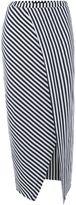 Replay Long striped jersey skirt