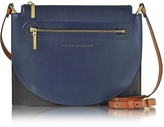 Victoria Beckham Color Block Leather Moon Light Crossbody Bag