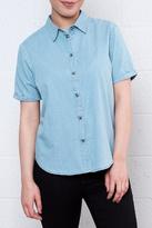 Jacqueline De Yong Chambray Dot Shirt