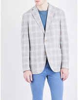 Boglioli Windowpane Linen-blend Boucle Jacket