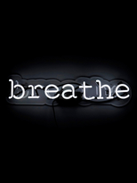 Oliver Gal Breathe Neon Sign