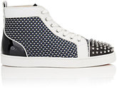 Christian Louboutin Men's Lou Spikes Flat Sneakers