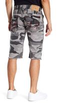 True Religion Camp Print Cutoff Shorts