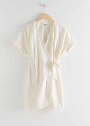 And other stories Organic Cotton Wrap Mini Dress