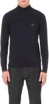 Armani Jeans Zip-detail jumper