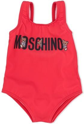 MOSCHINO BAMBINO Logo Print Swimsuit