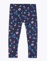 Marks and Spencer Cotton Rich Leopard Print Leggings (2-7 Years)