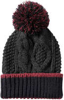 Joe Fresh Kid Boys' Cable Knit Beanie, Charcoal (Size S/M)