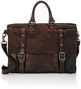 Campomaggi Men's Double-Handle Briefcase-BROWN