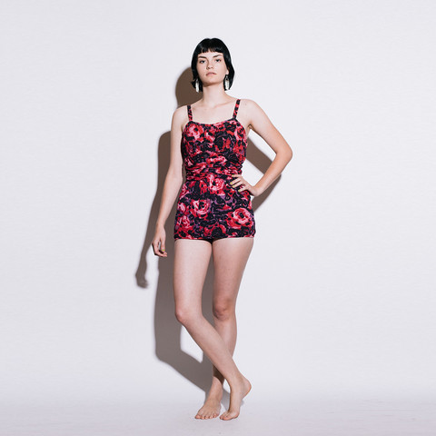 Rose Marie Reid '50s Rose Print Bathing Suit