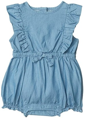 Janie and Jack Bubble One-Piece (Infant) (Blue) Girl's Jumpsuit & Rompers One Piece