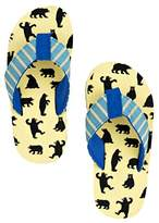 Hatley Lbh Kids Flip Flops-Boy Bears on Natural Beach and Pool Shoes,XL Child UK