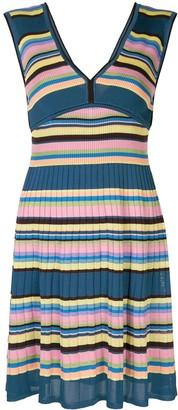M Missoni Striped Ribbed Mini Dress