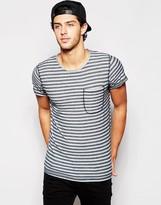 Minimum Stripe Pocket T-Shirt