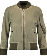 R 13 Ribbed Knit-Trimmed Cotton-Blend Jacket