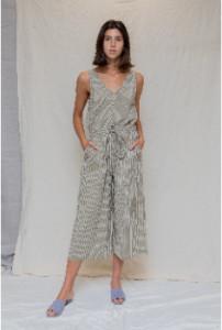 Designers Society - Striped Jumpsuit - Size XS | cotton