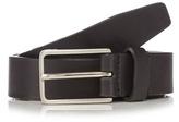 J By Jasper Conran Black Leather Pin Buckle Skinny Belt